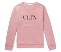 Logo-print Cotton-blend Jersey Sweatshirt - Pink