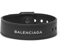 Logo-print Leather Bracelet