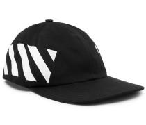 Striped Cotton-canvas Cap - Black