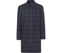 Checked Double-faced Wool-blend Coat