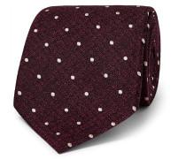 8cm Polka-dot Metallic Silk-jacquard Tie - Red