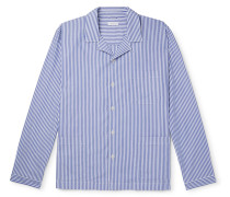 Striped Cotton-Poplin Pyjama Shirt