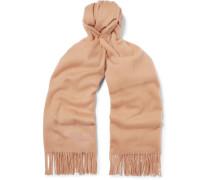 Fringed Wool Scarf - Camel