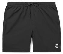 Appliquéd Shell Drawstring Shorts