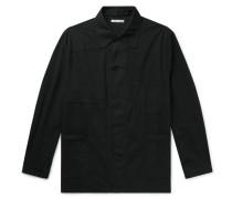 Oversized Cotton-voile Chore Jacket - Black