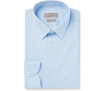 Light-blue Slim-fit Cotton-poplin Shirt - Light blue
