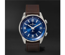 Polaris Automatic Stainless Steel And Leather Watch