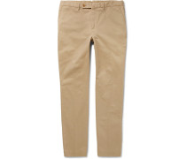 Kensington Slim-fit Brushed Stretch-cotton Twill Chinos