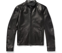 Slim-fit Café Racer Leather Jacket