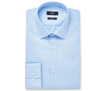 Blue Jenno Slim-fit Cotton Oxford Shirt