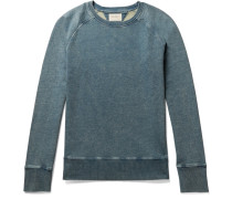 Samuel Slim-fit Indigo-dyed Loopback Cotton-jersey Sweatshirt