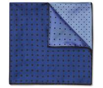 Polka-dot Silk-twill Pocket Square - Navy