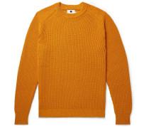 Ribbed Baby Alpaca-blend Sweater - Saffron