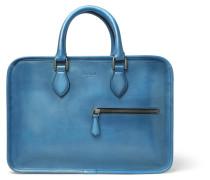 Un Jour Mini Leather Briefcase - Blue