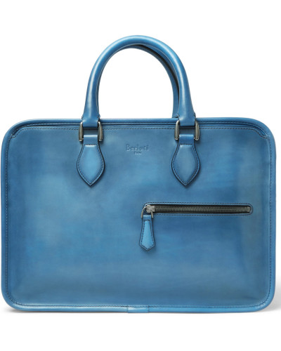 Un Jour Mini Leather Briefcase - Blue