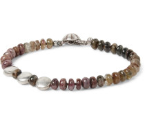 Tourmaline And Sterling Silver Bracelet - Pink
