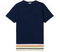 Striped Cotton and Linen-Blend Jersey T-Shirt