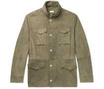 Hooded Suede Field Jacket