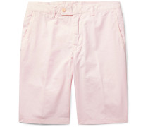 Slim-fit Washed Cotton-twill Shorts