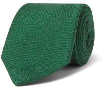 8cm Wool, Silk And Cashmere-blend Tie - Green