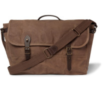 Abingdon Leather-trimmed Waxed Cotton-canvas Messenger Bag