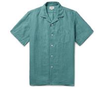 Palm Camp-Collar Linen Shirt