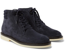 Icer Walk Cashmere-lined Water-repellent Suede Boots - Navy