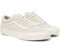 Og Old Skool Lx Leather-trimmed Suede Sneakers - Off-white