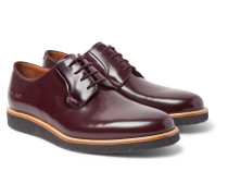 Polished-leather Derby Shoes - Burgundy