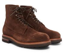 Suede Boots - Dark brown