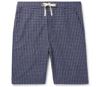 Cannington Gingham Cotton Drawstring Pyjama Shorts