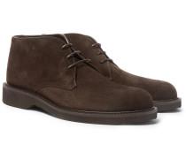 Suede Chukka Boots - Dark brown