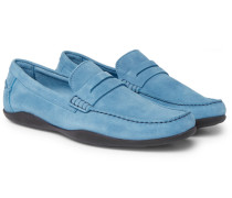 Basel Suede Penny Loafers