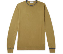 Astin Slim-Fit Contrast-Tipped Sea Island Cotton Sweater
