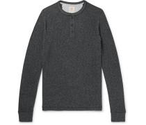 Mélange Organic Cotton-Blend Jersey Henley T-Shirt