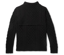 Layered Cable-Knit Virgin Wool Sweater