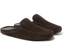 Gommino Suede Backless Loafers