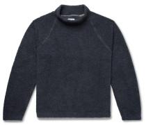 Cotton-Fleece Mock-Neck Sweatshirt