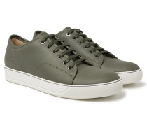 Cap-toe Matte-leather Sneakers