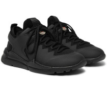 Sportif Mesh, Rubber And Nubuck Sneakers