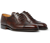 Trenton Cap-toe Burnished-leather Oxford Brogues