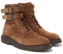 Suede Boots - Brown