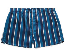 Bailey Striped Silk Boxer Shorts
