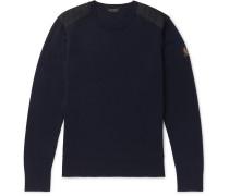 Kerrigan Slim-Fit Shell-Trimmed Wool Sweater