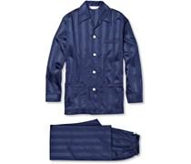 Lingfield Striped Cotton Pyjama Set