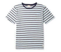 Héritage Striped Cotton and Linen-Blend T-Shirt