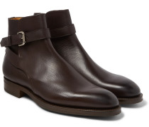 Lambourne Textured-leather Boots - Brown