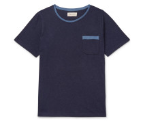 Envelope Contrast-Tipped Cotton-Jersey T-Shirt