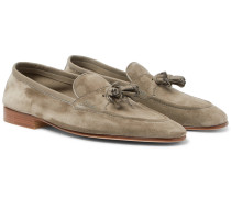 Portland Leather-trimmed Suede Tasselled Loafers