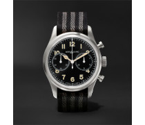 1858 Automatic Chronograph 42mm Stainless Steel and NATO Webbing Watch, Ref. No. 117835